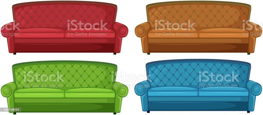 Colorful couches royalty-free stock vector art