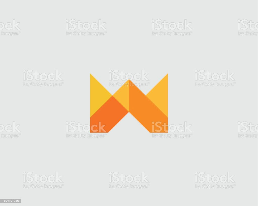 Colorful creative crown flower sign. Universal hand fist mount vector vector art illustration