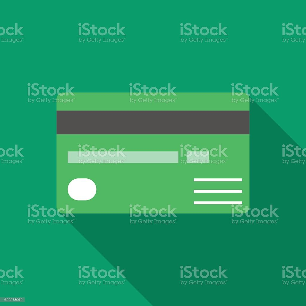 Colorful credit card icon in modern flat style vector art illustration