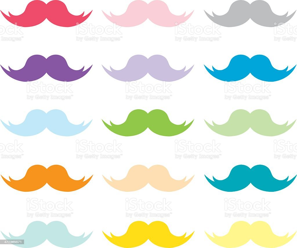 Group Of Rainbow Mustache Background Hd