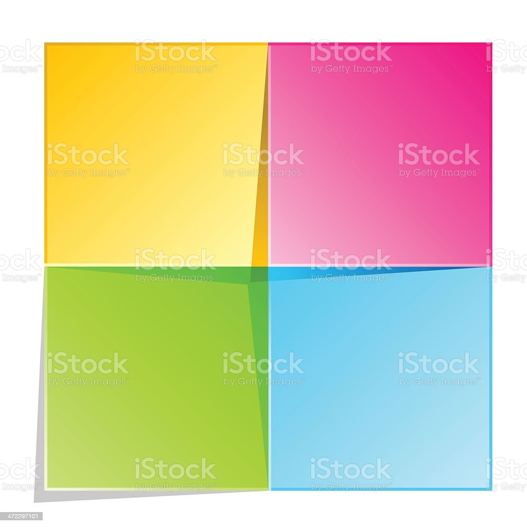 Colorful Cycle Square Diagram royalty-free stock vector art