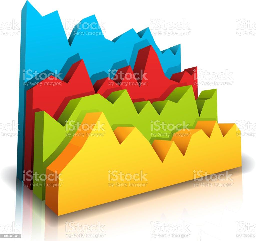 Colorful diagram royalty-free stock vector art