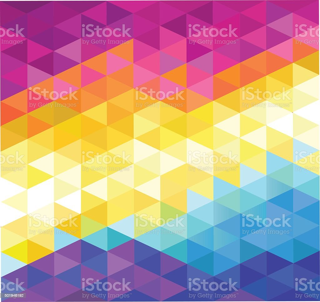 Colorful Diamonds Shaped Background vector art illustration
