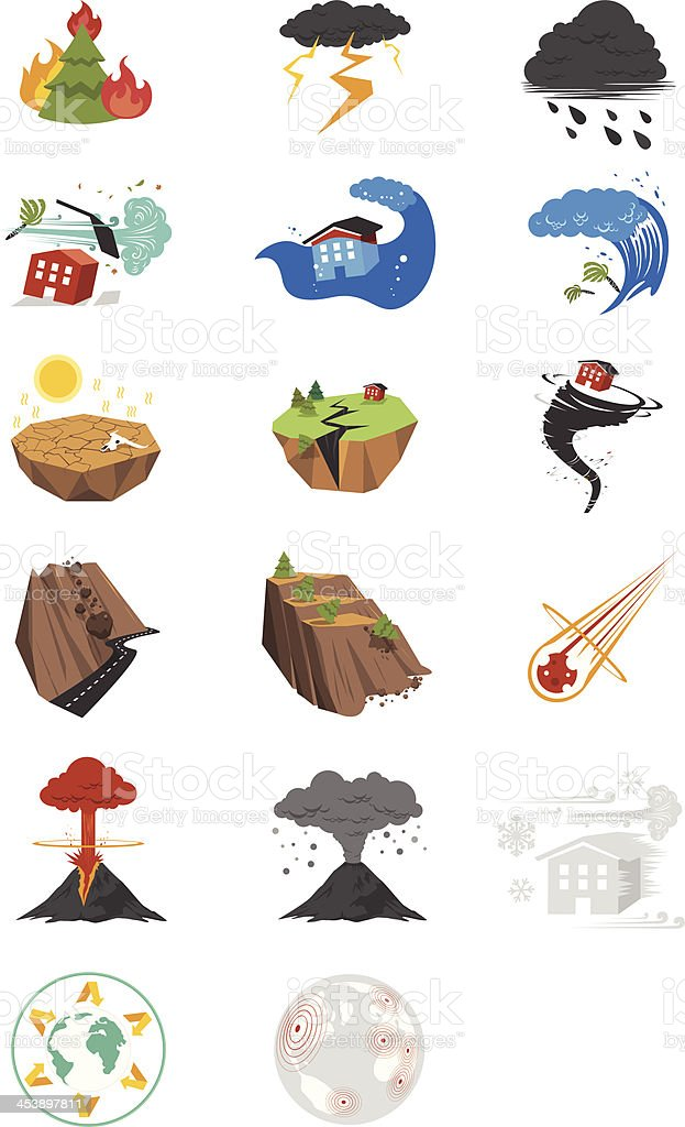 Colorful Disaster - Illustration royalty-free stock vector art