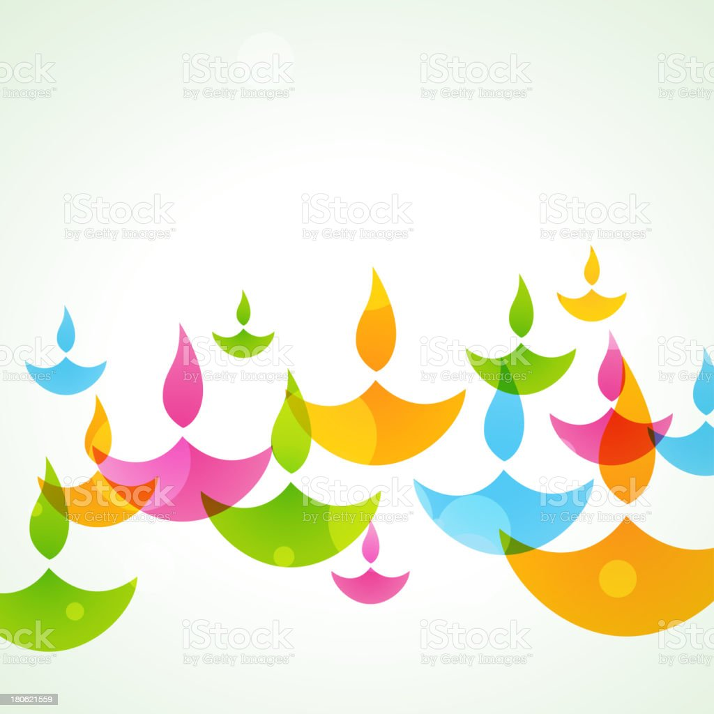 colorful diwali background royalty-free stock vector art