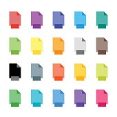 Colorful document icons