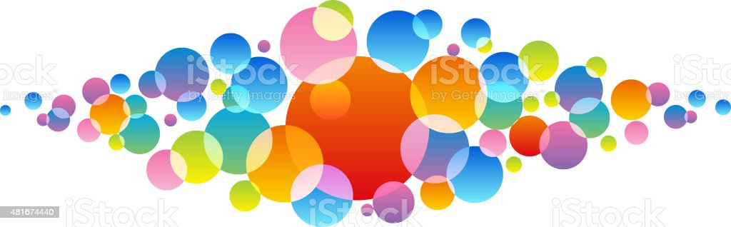 colorful dots vector art illustration