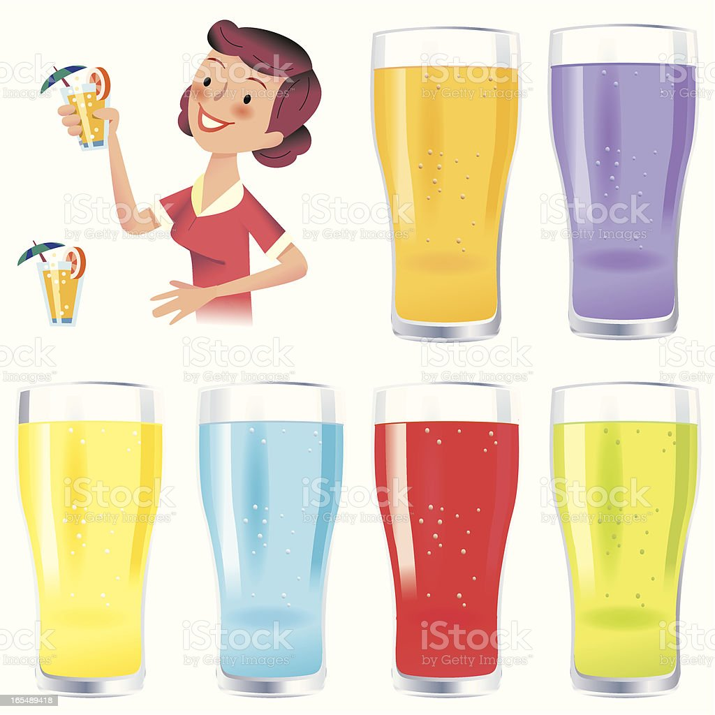 Colorful Drinks! vector art illustration