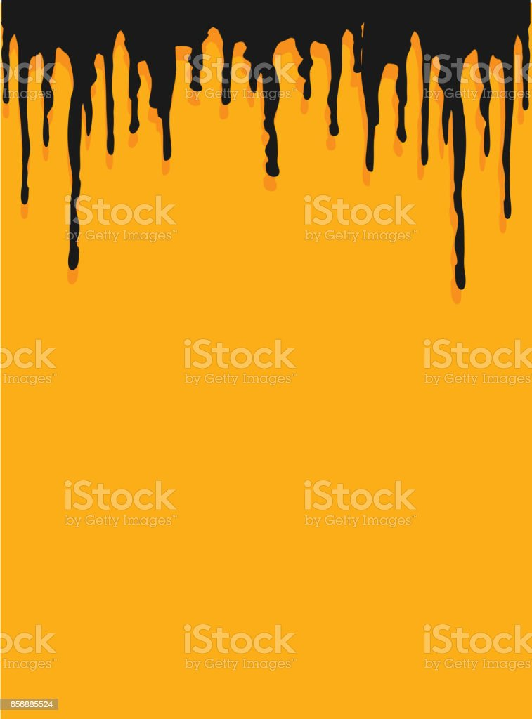 Colorful dripping paint background vector art illustration