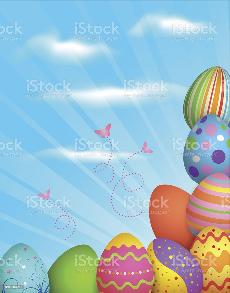 Colorful easter eggs background royalty-free stock vector art