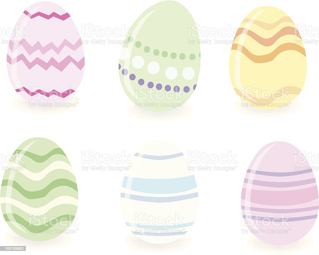 Colorful Easter Eggs royalty-free stock vector art