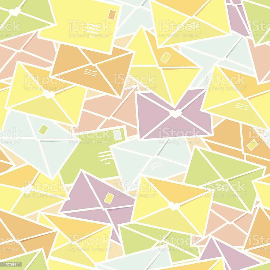 Colorful envelopes seamless pattern royalty-free stock vector art