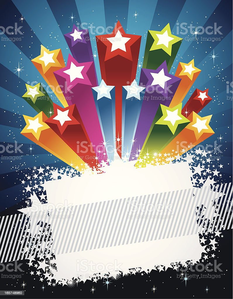 Colorful Exploding Star royalty-free stock vector art