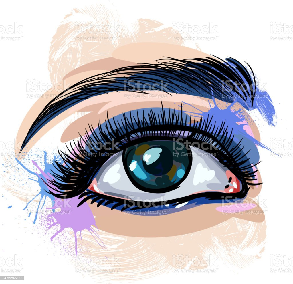 Colorful Eye vector art illustration