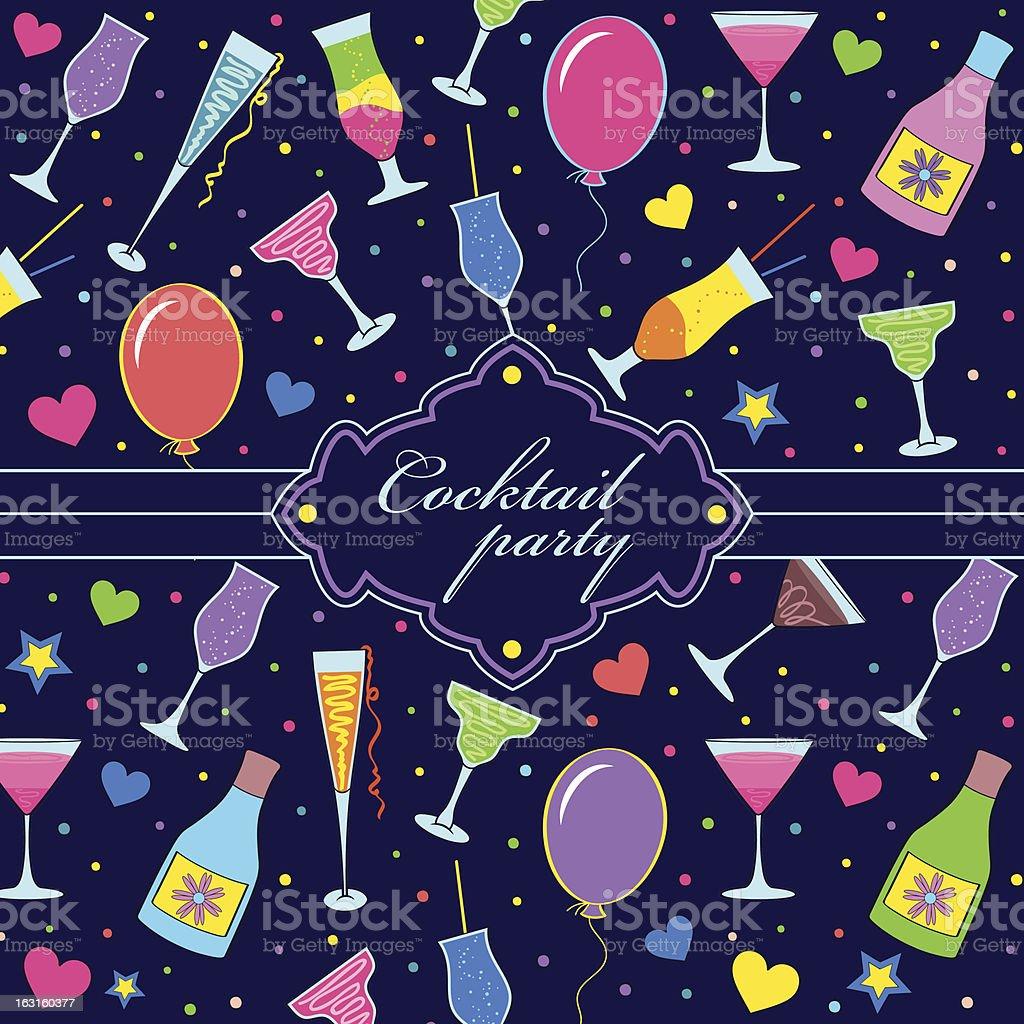 colorful festive invitation royalty-free stock vector art