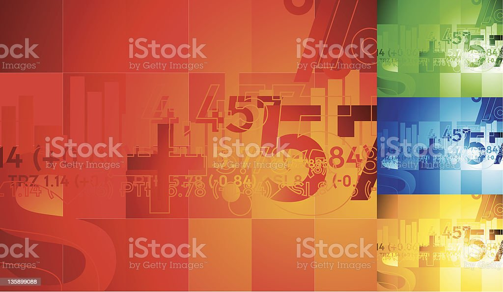 A colorful financial background vector art illustration