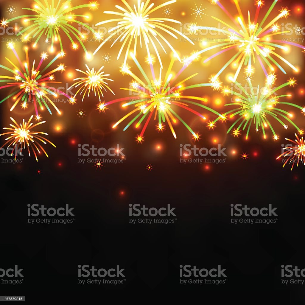 Colorful firework background vector art illustration