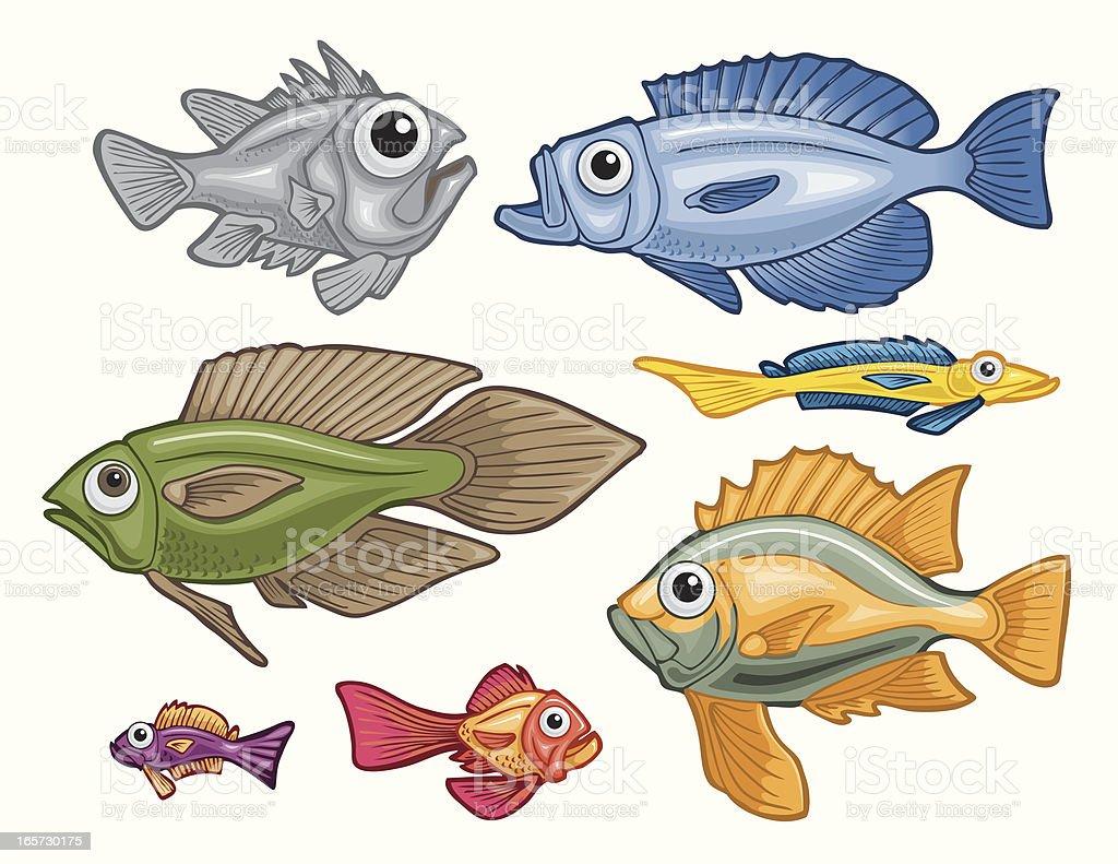 Colorful Fish royalty-free stock vector art