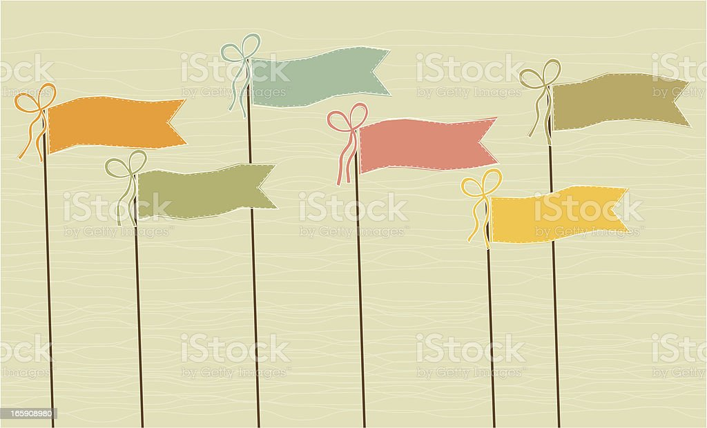 Colorful flag pennants royalty-free stock vector art