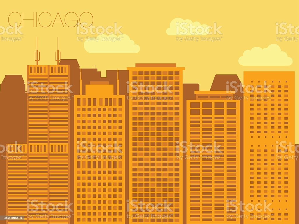 Un style coloré panorama de la ville stock vecteur libres de droits libre de droits