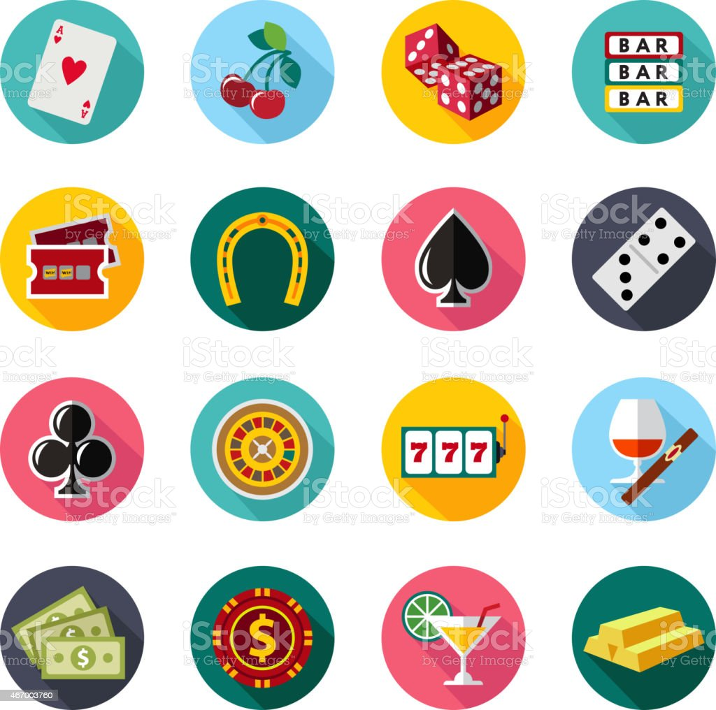 Colorful flat vector icons set. Quality design illustrations, elements and vector art illustration