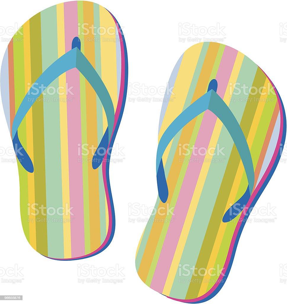 Colorful flip flops royalty-free stock vector art