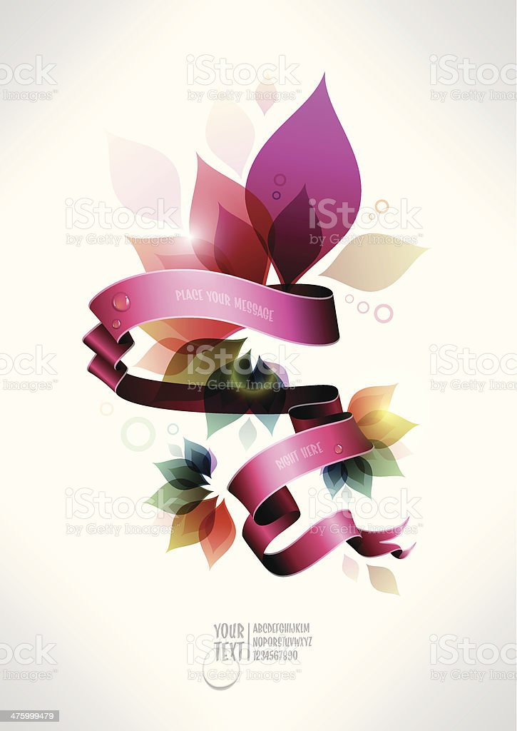 colorful floral banner royalty-free stock vector art