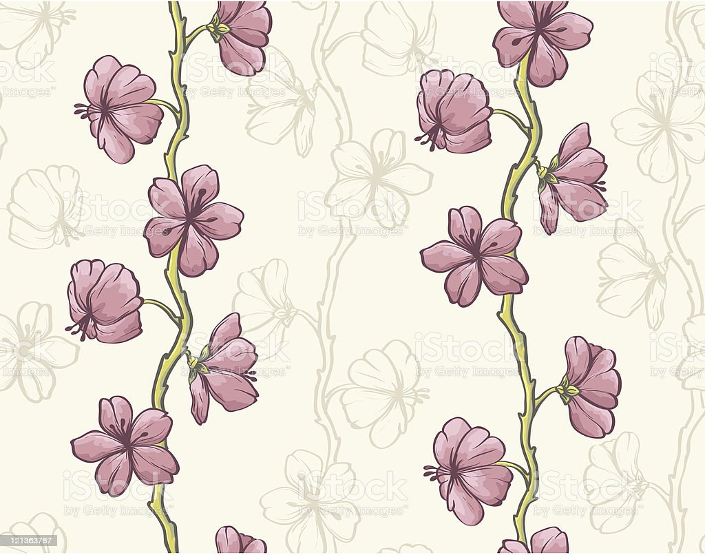 Colorful floral seamless pattern royalty-free stock vector art