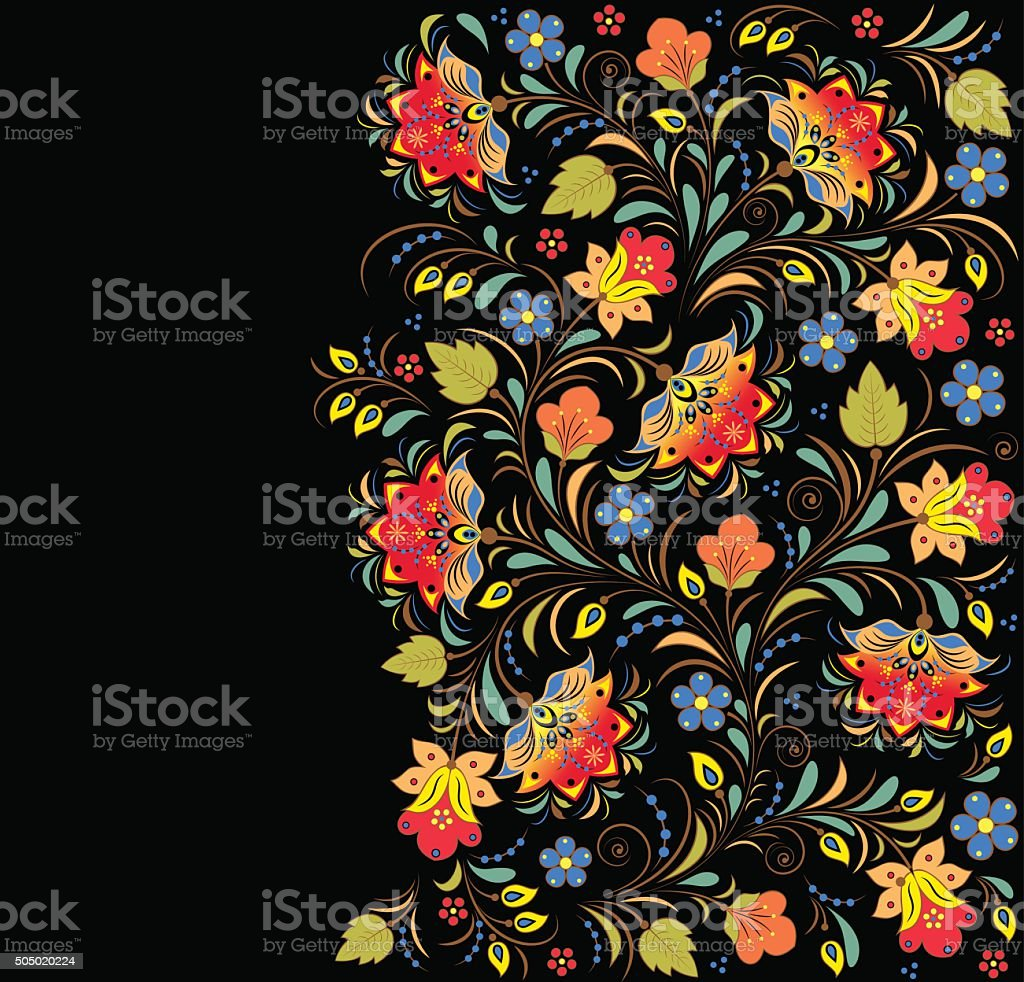 colorful floral vector pattern vector art illustration