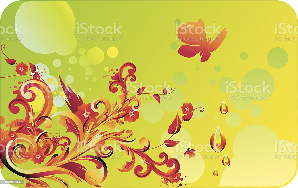Colorful flourish royalty-free stock vector art