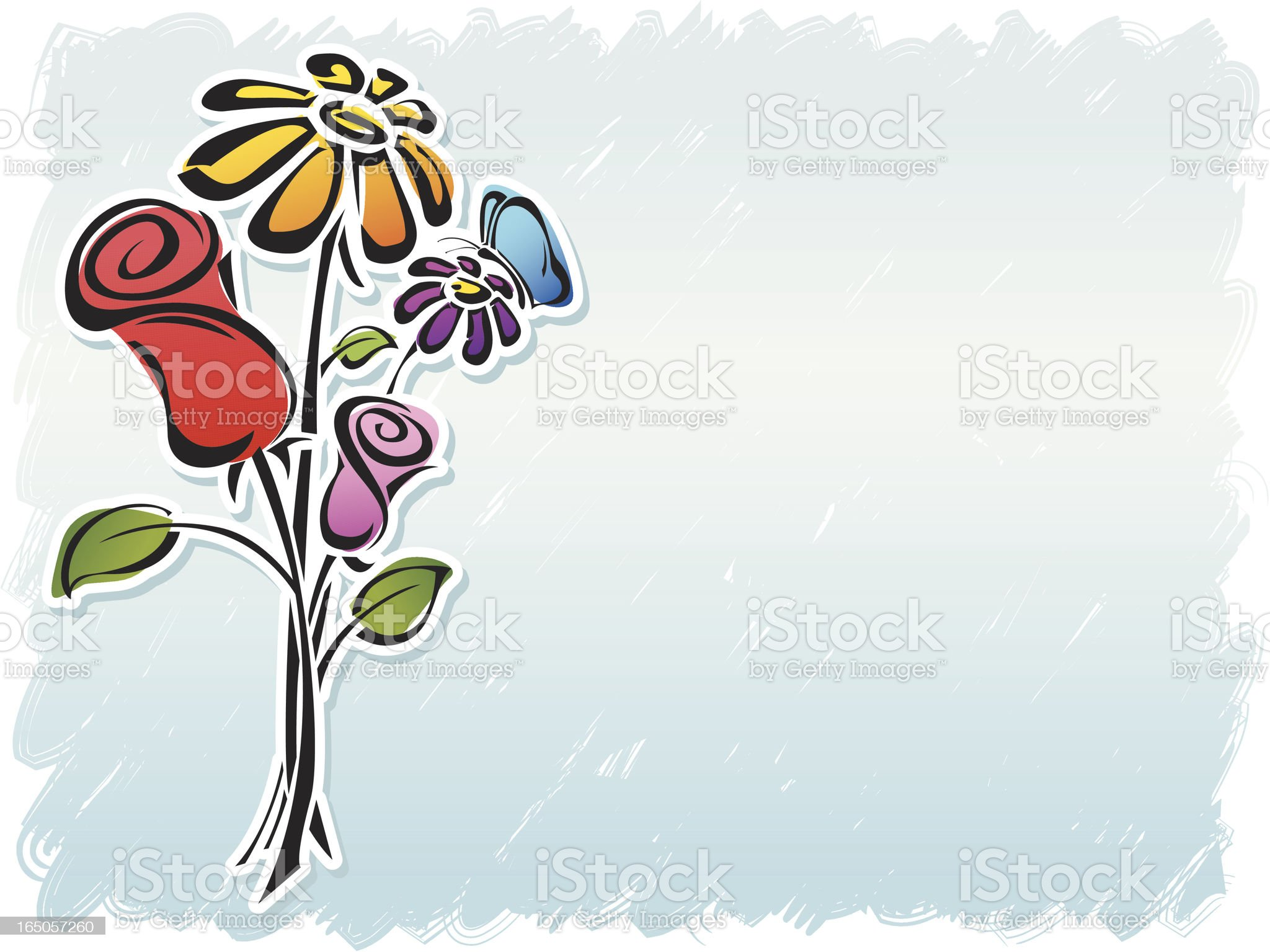 Colorful Flower Bouquet royalty-free stock vector art