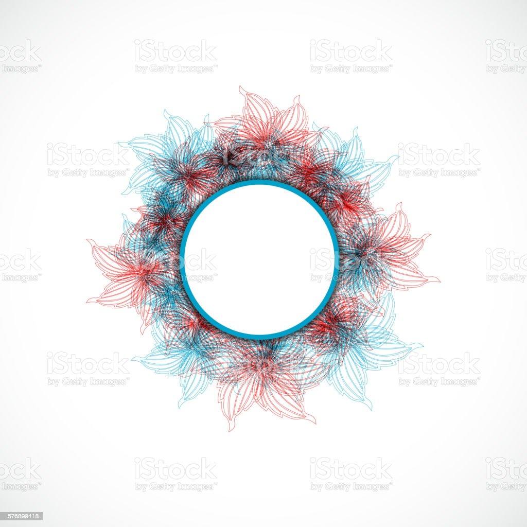colorful flower circle pattern vector art illustration