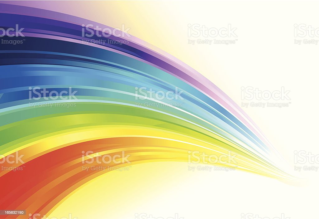 Colorful Flowing Lines Background vector art illustration