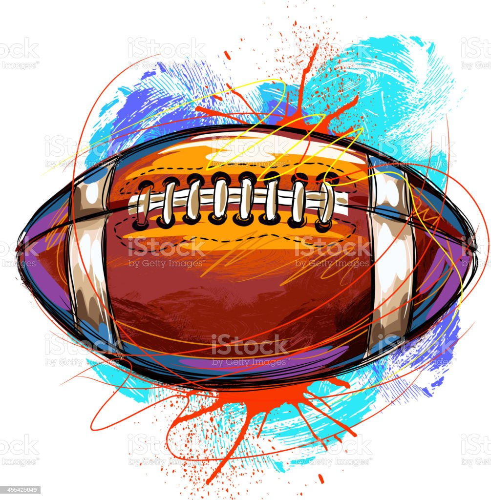Colorful Football royalty-free stock vector art