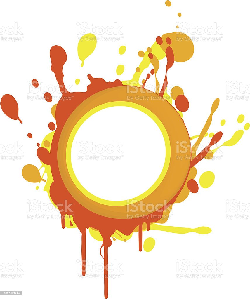 Colorful frame royalty-free stock vector art