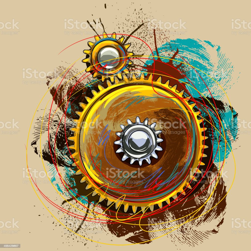 Colorful Gear royalty-free stock vector art