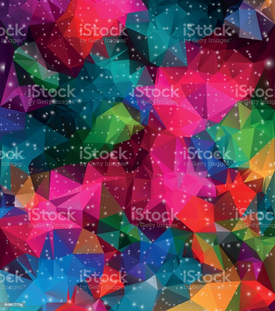 Colorful geometric background with triangular & polygonal shapes. vector art illustration