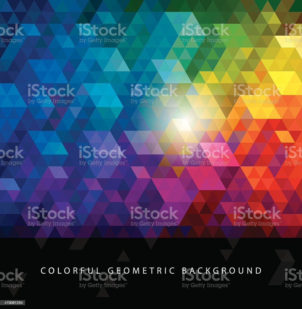 Colorful Geometric Backgrounds. vector art illustration
