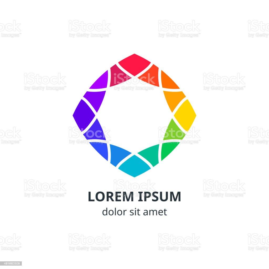 Colorful Geometric Corporate Symbol Design vector art illustration