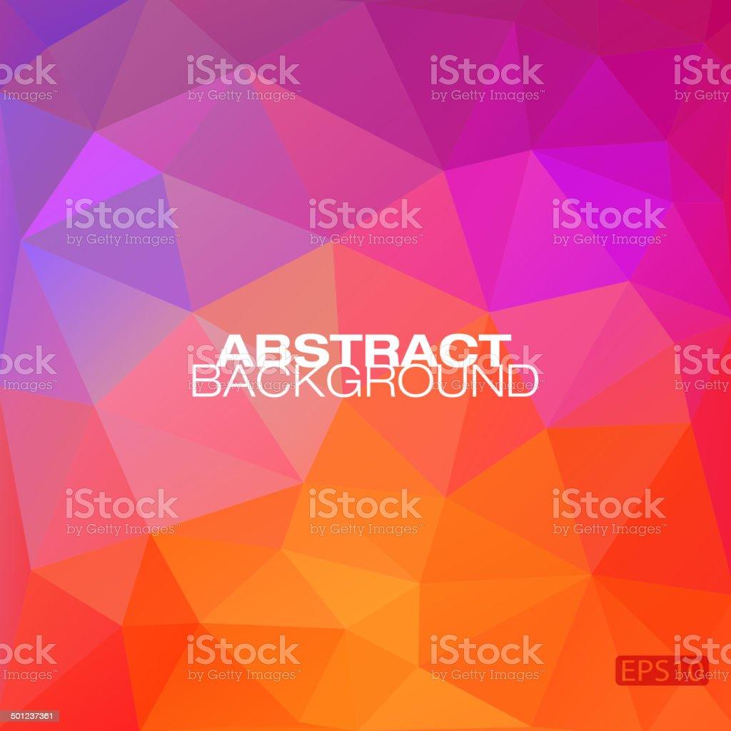 Colorful geometric modern pattern vector art illustration