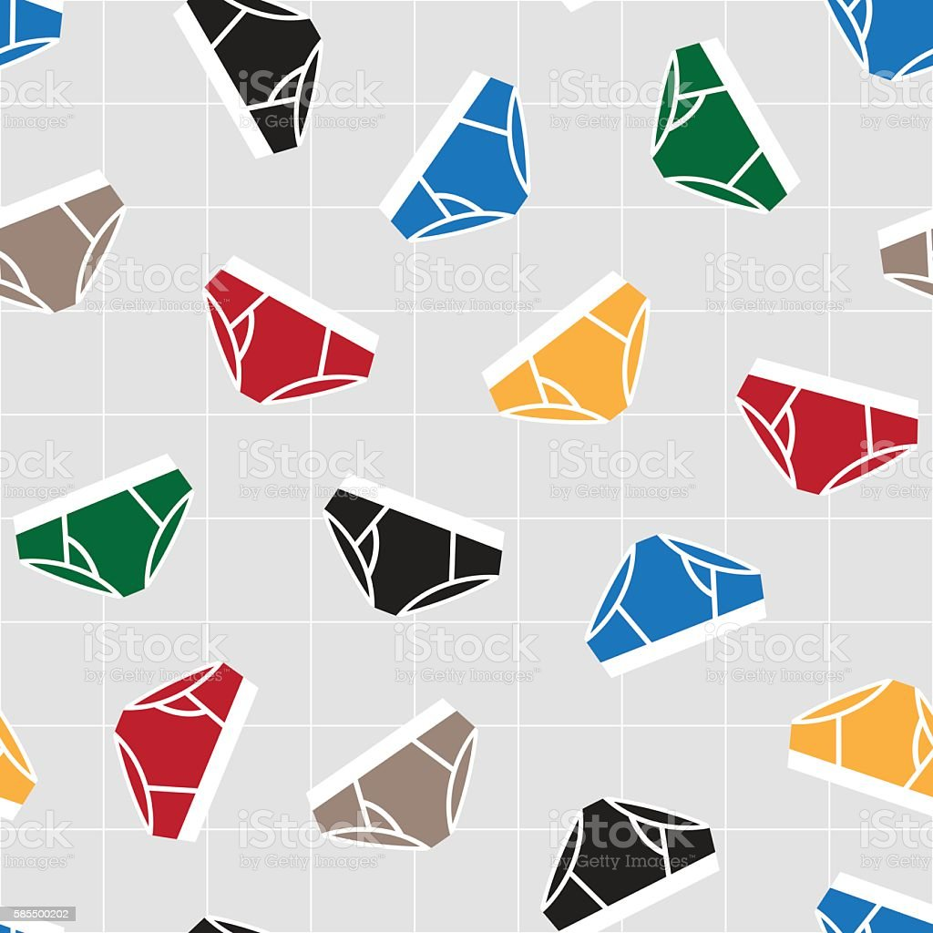 Colorful Geometric seamless pattern vector art illustration