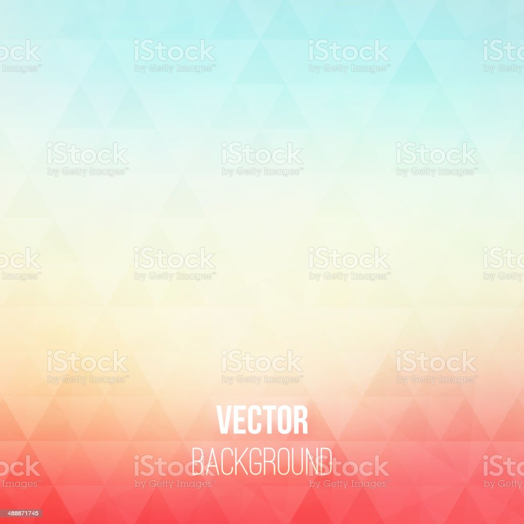 Colorful geometric vector background with triangles vector art illustration