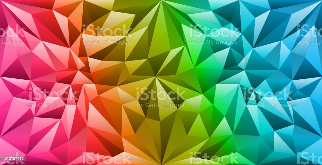 Colorful geometry background vector art illustration