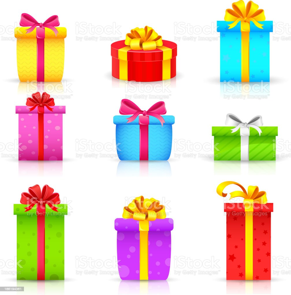 Colorful Gift Box royalty-free stock vector art