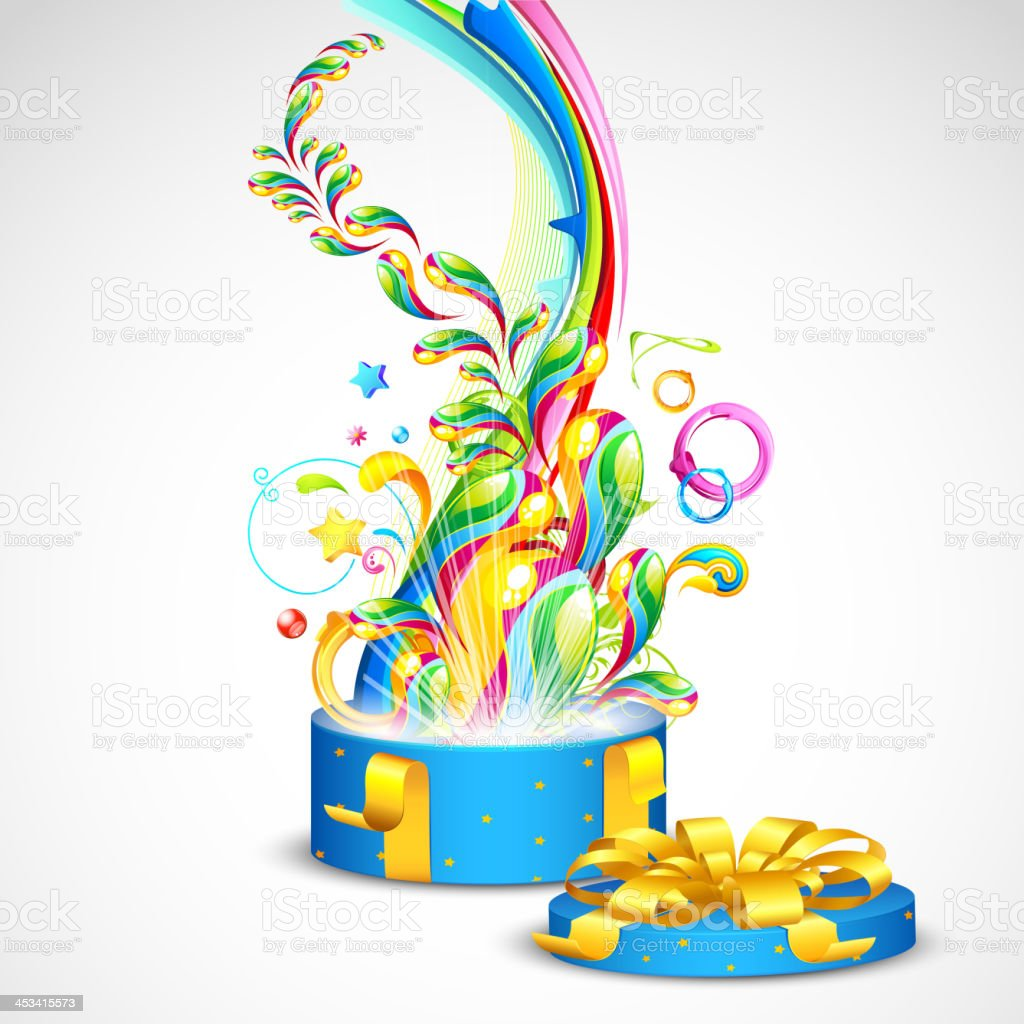 Colorful Gift royalty-free stock vector art