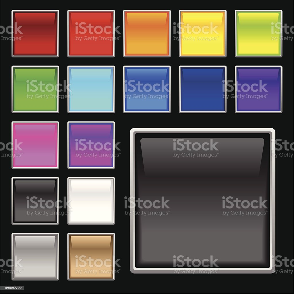 Colorful Glass Screens royalty-free stock vector art
