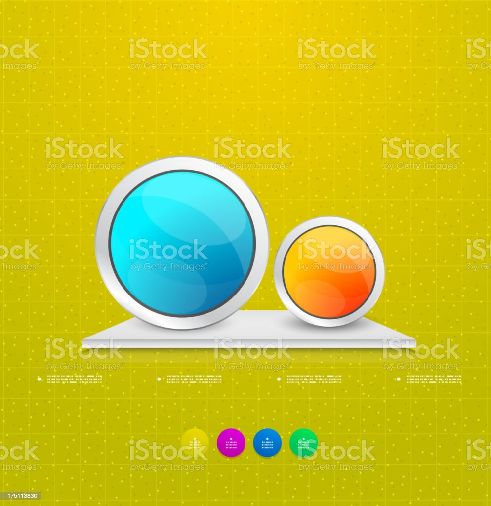 Colorful glossy circles infographic design royalty-free stock vector art