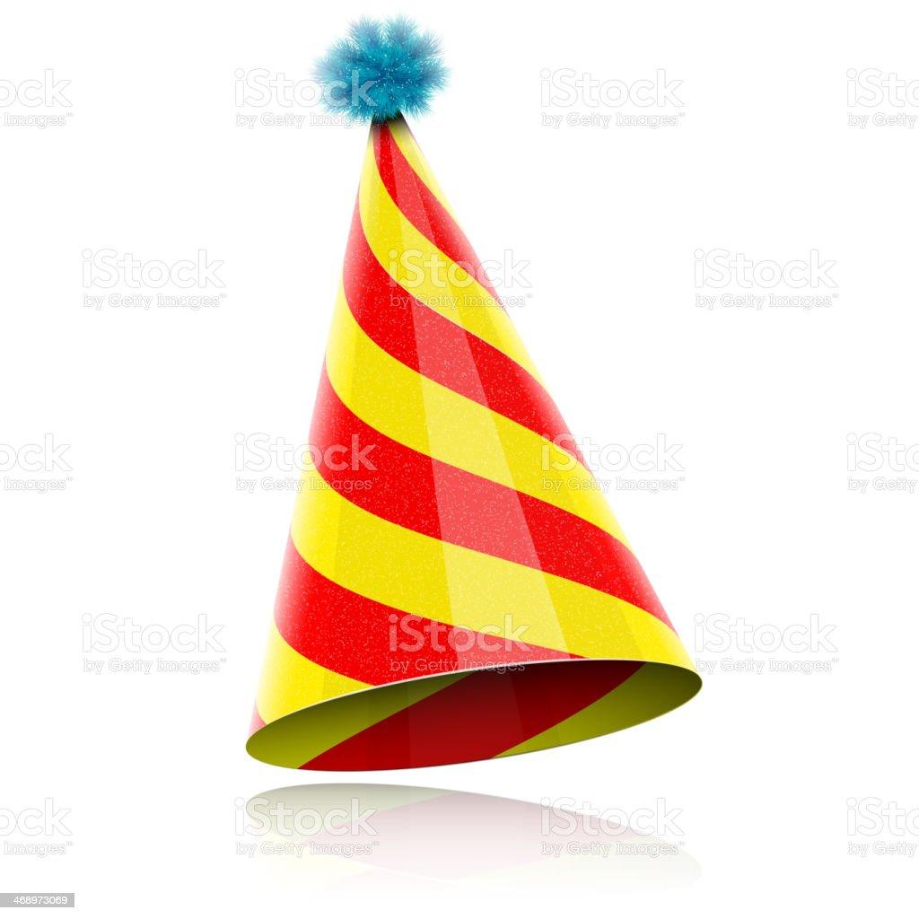 Colorful Glossy Hat For Celebration. vector art illustration
