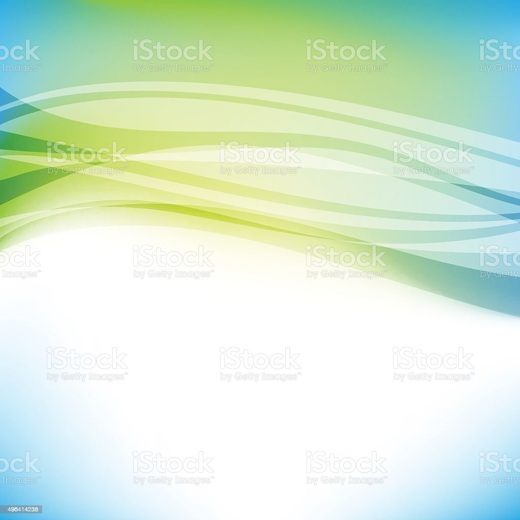 Colorful green background vector art illustration