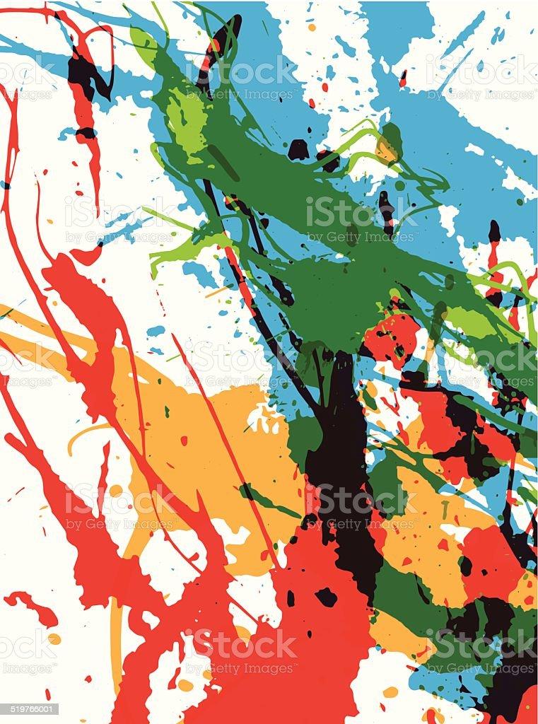 Colorful grunge background vector art illustration